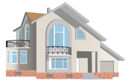 Cottage (Detailed). Vector illustration  Stock Vector - 8883594