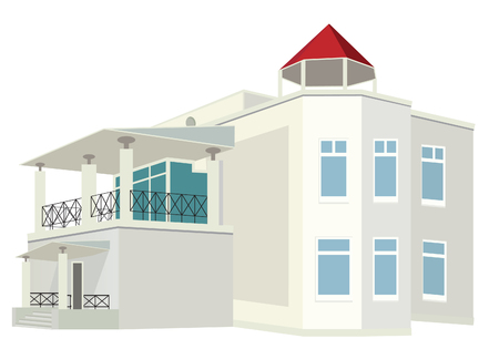 Cottage (Detailed). Vector illustration  Stock Vector - 8883593