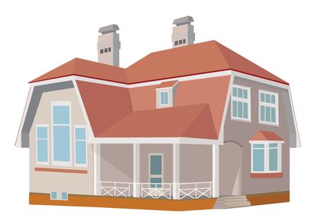 Cottage (Detailed). Vector illustration  Vector