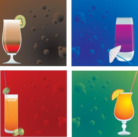 Cocktails. Vector illustration Vector