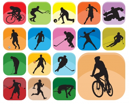 competitive sport: Sports Icons. Vector illustration  Illustration