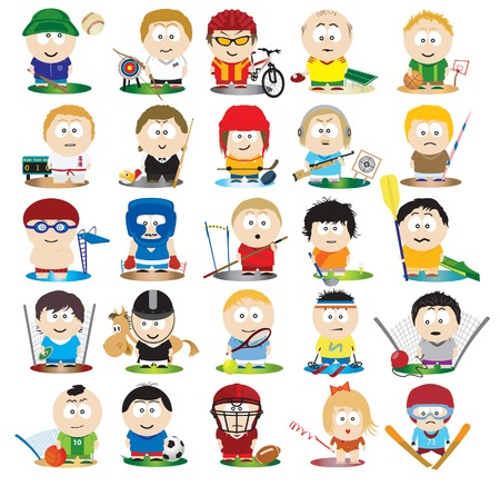 The Athletes. Vector set  Stock Vector - 8985491