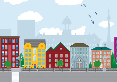 City houses.  Vector