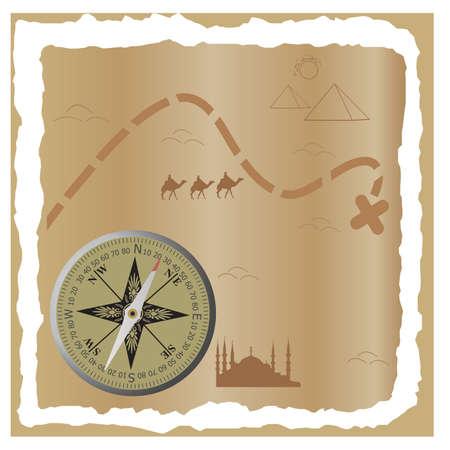 Treasure map Stock Vector - 9123292