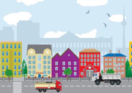 green street: Casas de la ciudad