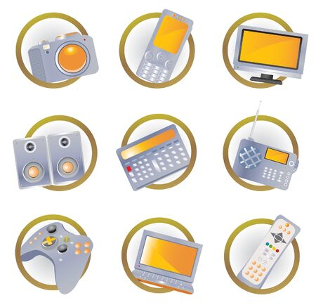 Hi-tech equipment icons Stock Vector - 9123293