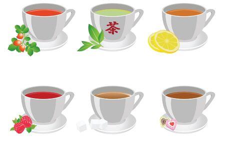 Tea cups. Vector illustration  Vector