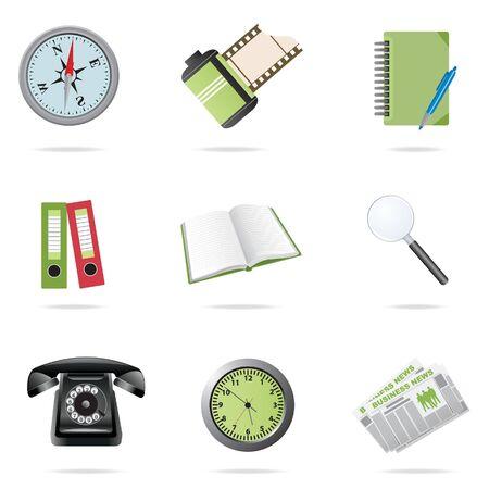 watch glass: Icons set. Vector illustration  Illustration