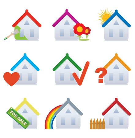 House. Set. Vector illustration  Stock Vector - 9400371