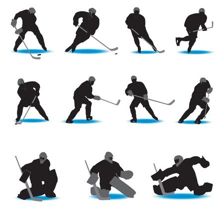Hockey Silhouettes. Vector illustration Stock Vector - 9572549