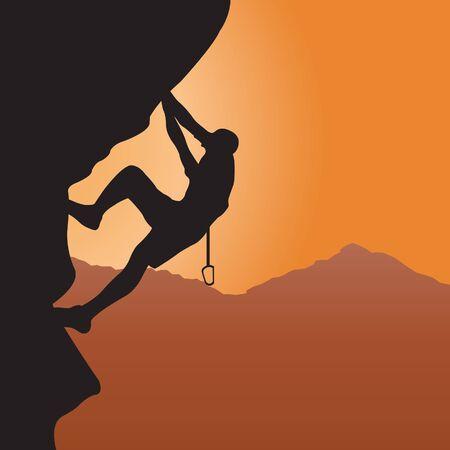 escalada: Rock climbing. Vector illustration Ilustra��o