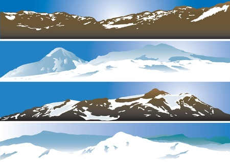 snow mountains: Mountain range background