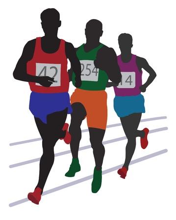 Running mans.  Stock Vector - 10677453