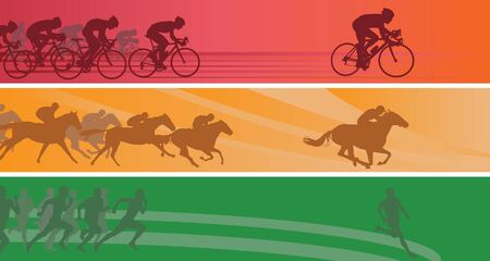 bicycle race: Sport banners. Illustration