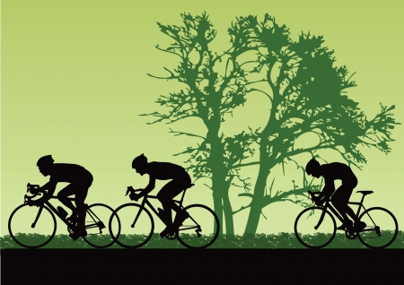 cyclist silhouette: Professional cyclists.