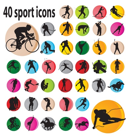 competitive sport: Sport icons. Vector illustration