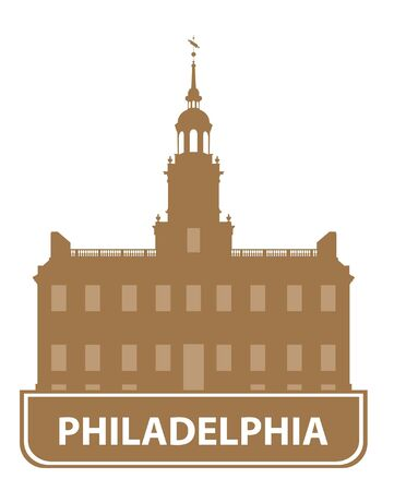 Philadelphia outline. Vector illustration Vector