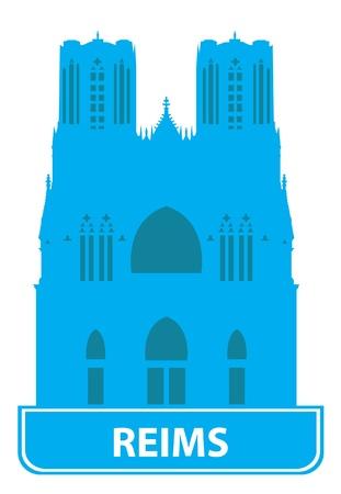reims: Reims skyline. Vector illustration  Illustration