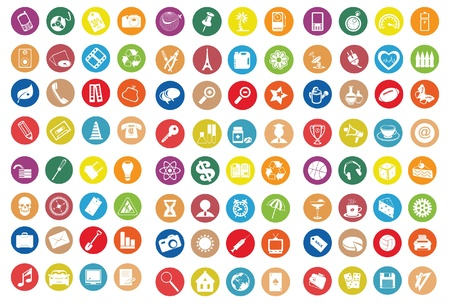 small business computer: Web icons. Vector illustration Illustration