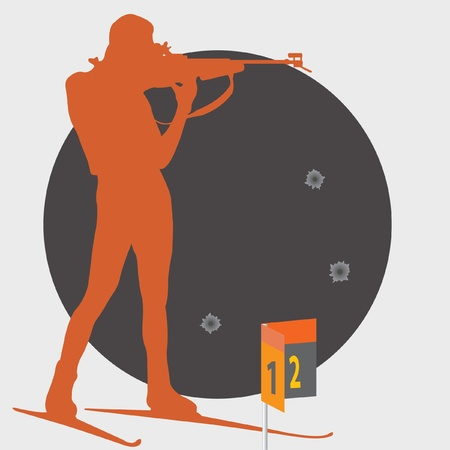 Biathlon. Shooting.  Vector