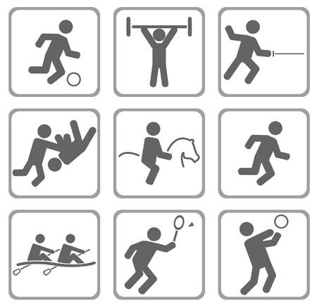 pirag�ismo: Set de iconos deportivos.