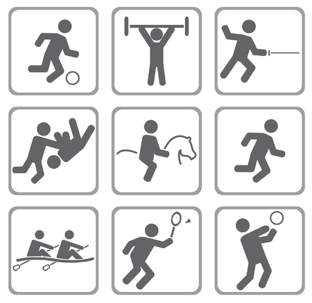deportes caricatura: Set de iconos deportivos.