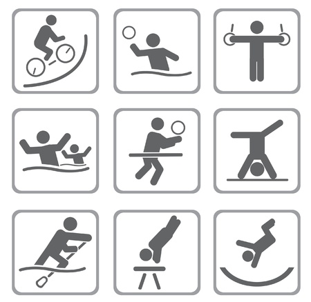 olympic symbol: Set of sport icons.