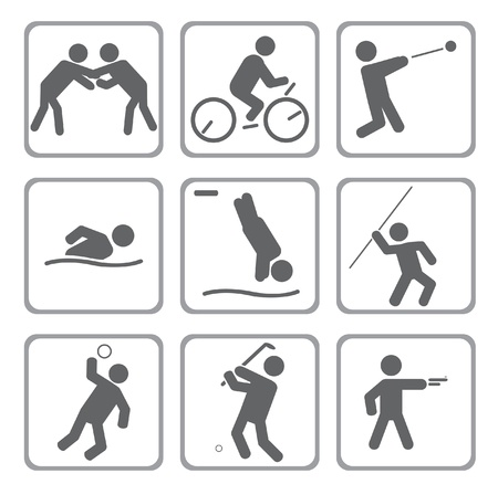 springboard: Set of sport icons.