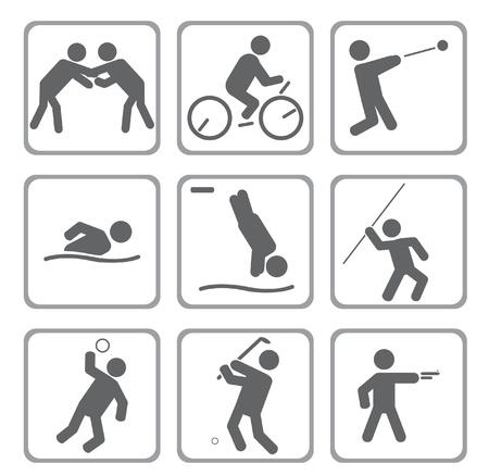 hurl: Set of sport icons.