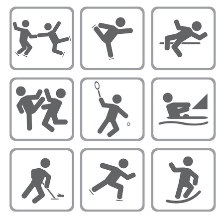 karat: Set of sport icons.