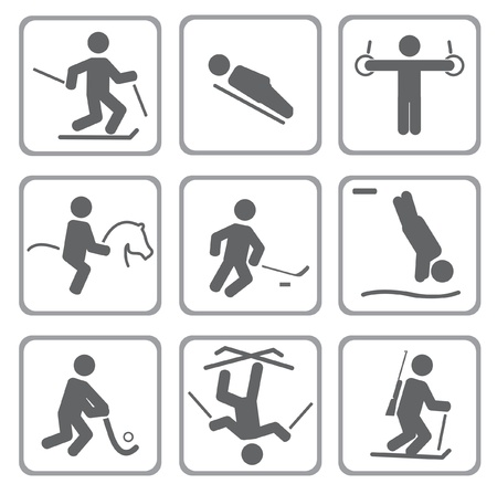 athletic symbol: Set of sport icons.
