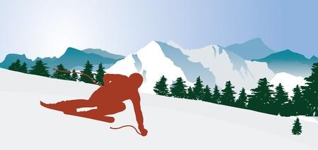 ski goggles: Downhiller.