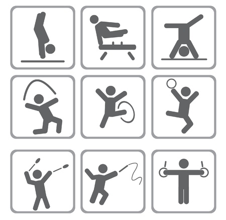 Set of sport icons. Vector illustration  Vector