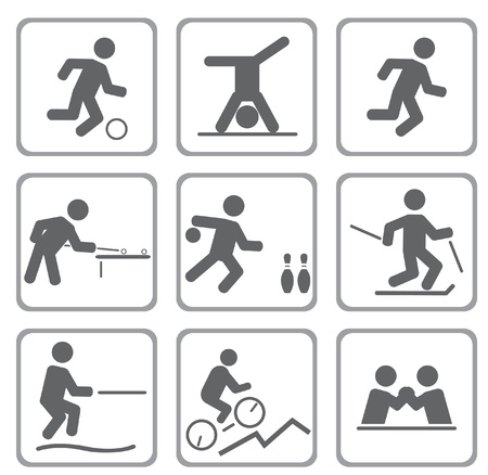 Set of sport icons. Vector illustration Stock Vector - 11871843