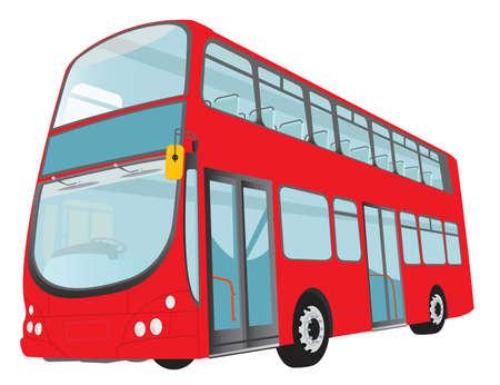 cartoon bus: London red bus