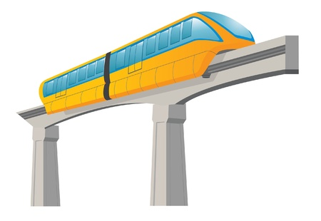 Monorail. Speed modern train Vector