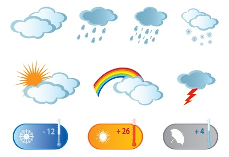 partly: Weather Icons. Vector illustration