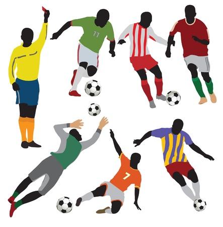 campeonato de futbol: Futbolistas collection.Vector Vectores