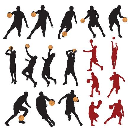 canestro basket: Giocatori di basket. Vettoriali