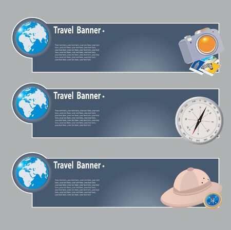 Travel banners. set for you design Vector