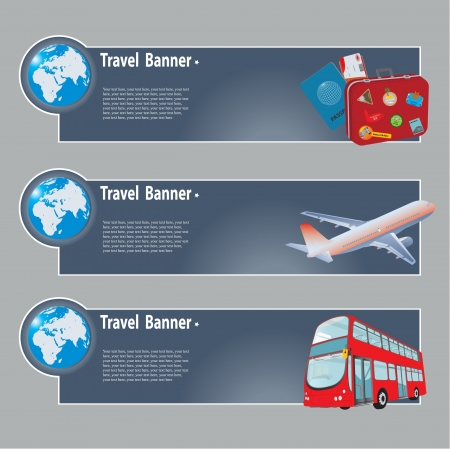 valise: Travel banners. set for you design