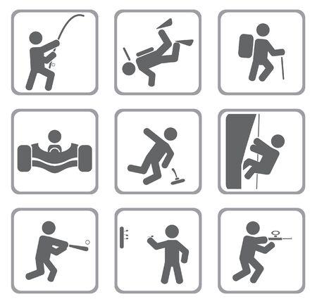 aqualung: Set di icone dello sport.