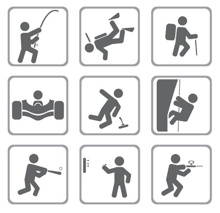 Set van sport icons.