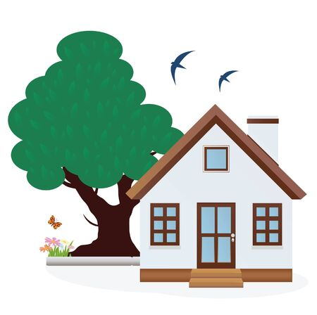 House  Summer  Stock Vector - 15817232