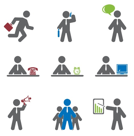 computer training: Business icon  Vector set  Illustration
