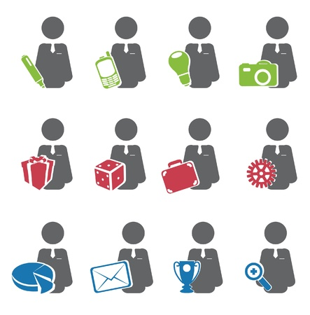 image consultant: Business icon  Vector set  Illustration