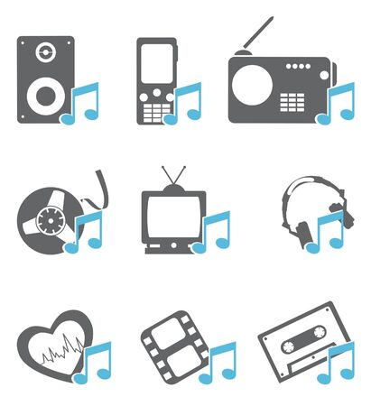 Multimedia Icons  Vector set  Vector