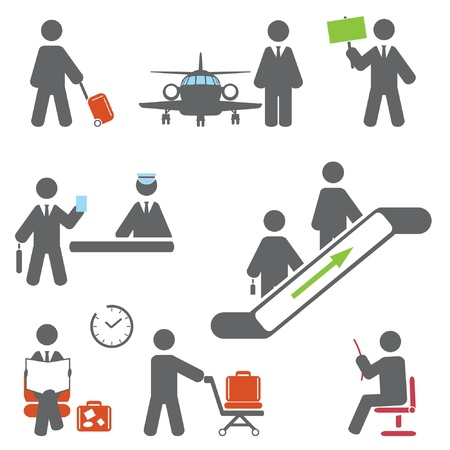 Air terminal icons   Illustration