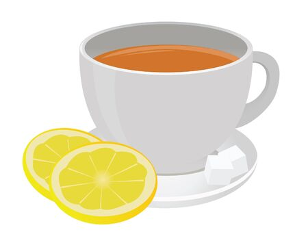 Tea cup and lemon. Vector for you design Stock Vector - 16446944