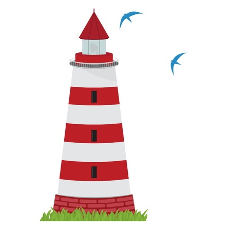 hope sign: Lighthouse. Vector for you design